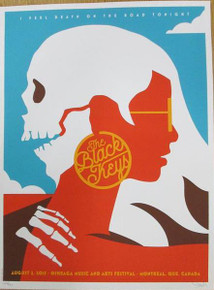 BLACK KEYS - 2015 - DAN STILES - POSTER - MONTREAL - QUEBEC - TURN BLUE