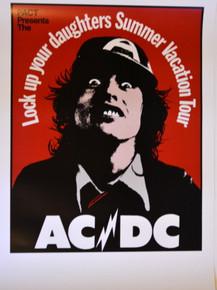 AC/DC - ANGUS YOUNG - BON SCOTT - AUSTRALIAN TOUR POSTER