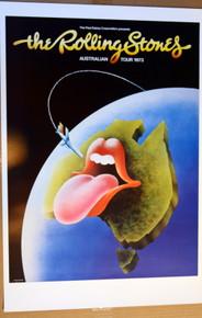 THE ROLLING STONES - 1973 - AUSTRALIA TOUR POSTER - IAN McCAUSLAND