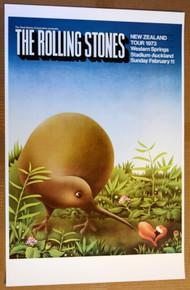 THE ROLLING STONES - 1973 - NEW ZEALAND TOUR POSTER - IAN Mc CAUSLAND - AUCKLAND