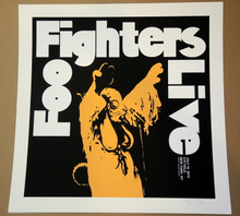 FOO FIGHTERS - 2015 - CITI FIELD - NEW YORK CITY - JERMAINE ROGERS - POSTER