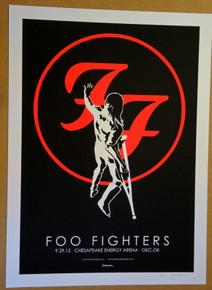 FOO FIGHTERS - 2015 - JERMAINE ROGERS - #65/100 - OKLAHOMA CITY - CHESAPEAKE ENERGY ARENA