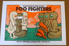 FOO FIGHTERS - 2015 - CENTENNIAL PARK - ATLANTA - WHITE - A/P - JERMAINE ROGERS - POSTER