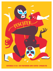 PUSCIFER - TOOL - 2015 - INB ARTS CENTER - SPOKANE - DAN STILES - POSTER