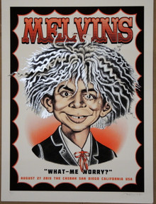 THE MELVINS - 2015 - THE CASBAH - SAN DIEGO - SILK SCREEN POSTER - DELANO GARCIA