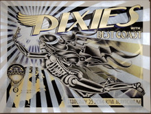 THE PIXIES - BEST COAST - 2014 - KIVA AUDITORIUM - ALBUQUERQUE - POSTER- DELANO GARCIA
