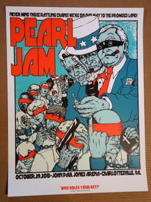 PEARL JAM - 2013 - CHARLOTTSVILLE - JERMAINE ROGERS - POSTER - EDDIE VEDDER