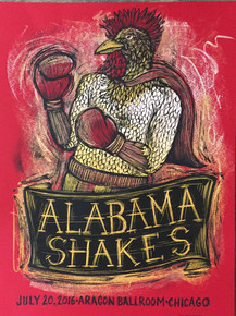 ALABAMA SHAKES - 2016 - ARAGON BALLROOM  - CHICAGO - HOLD ON  - DAN GRZECA - POSTER