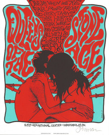 QUEENS OF THE STONE AGE - MINI PRINT- 2013 -CREME PAPER - JERMAINE ROGERS