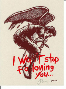 I WON'T STOP FOLLOWING YOU - JERMAINE ROGERS - OPAL PAPER - SIGNED - MINI ART PRINT