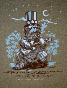 US BLUES - RICHARD BIFFLE - HEATHER GREEN - MEDIUM TEE SHIRT - ROCK CANDY POSTERS