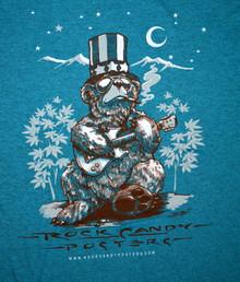 US BLUES - RICHARD BIFFLE - HEATHER BLUE - MEDIUM TEE SHIRT - ROCK CANDY POSTERS