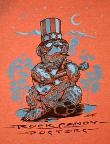 US BLUES - RICHARD BIFFLE - HEATHER ORANGE - MEDIUM TEE SHIRT - ROCK CANDY POSTERS