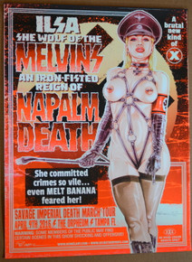 MELVINS - NAPALM DEATH - ORPHEUM - TAMPA - 2016  - STAINBOY - GREG REINEL
