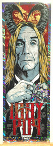 IGGY POP - FOIL - STOOGES - 2016 - POSTER - BERLIN - RHYS COOPER - POST POP DEPRESSION