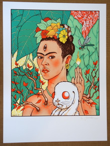 FRIDA KAHLO - ART PRINT  - JERMAINE ROGERS - WIDESPREAD PANIC - POSTER