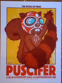 PUSCIFER - ALBUQUERQUE - 2016 - TOOL - ARTIST PROOF - POPEJOY HALL - JERMAINE ROGERS