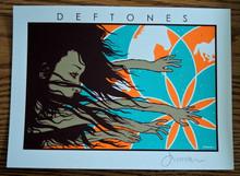 DEFTONES - MINI PRINT -  CREAM - SWERVE CITY - JERMAINE ROGERS - SIGNED