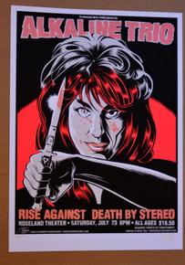 ALKALINE TRIO - RISE AGAINST - 2005 - #1/265 - ROSELAND - STAINBOY - GREG REINEL
