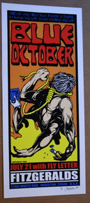 BLUE OCTOBER - 2000 - ARTIST PROOF  - HOUSTON - JERMAINE ROGERS - FITZGERALDS - POSTER