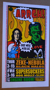 ZEKE - NEBULA - SUPERSUCKERS - ARTIST PRROF -2001  - HOUSTON - JERMAINE ROGERS - ENGINE ROOM