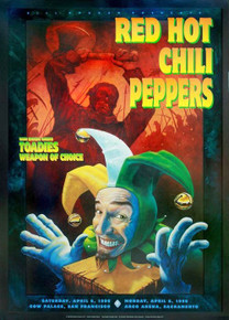 RED HOT CHILI PEPPERS - 1996 - BGP140  - RANDY CHAVEZ -  POSTER - COW PALACE - ARCO ARENA