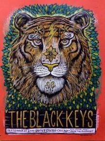 BLACK KEYS - 2014 - CHICAGO - UNITED CENTER- EL CAMINO- DAN GRZECA - TOUR POSTER