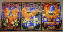FURTHUR - NEW YEARS EVE 2012 - 3 POSTER SET - SAN FRANCISCO - A/P - SCOTT KNAUER -  TOUR POSTER