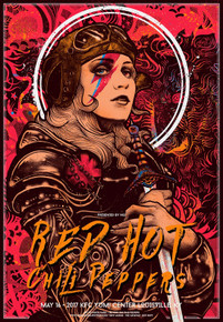 RED HOT CHILI PEPPERS - 2017 - NIKITA KAUN - POSTER - KFC YUM - LOUISVILLE - KIEDIS -FLEA