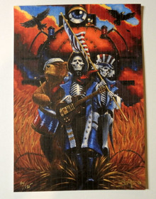BOUND FOR GLORY - BLOTTER PRINTS - RICHARD BIFFLE - SOY BASED INK - SIGNED & NUMBERED - GRATEFUL DEAD