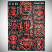 FOO FIGHTERS - CAL JAM - 2017 - SAN BERNARDINO - TODD SLATER - TOUR POSTER