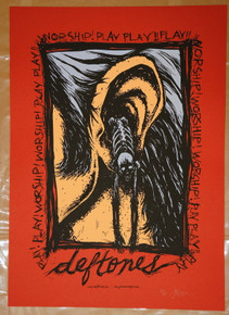 THE DEFTONES -  JERMAINE ROGERS - RED VARIANT - ART PRINT