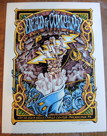 DEAD AND COMPANY - PHILADELPHIA - 2017 TOUR POSTER - AJ MASTHAY - ARTIST PROOF
