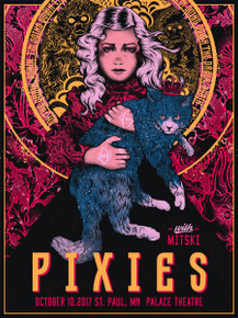 THE PIXIES - 2017 - PALACE THEATRE - ST. PAUL - NIKITA KAUN - TOUR POSTER