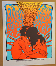 QUEENS OF THE STONE AGE - INDIANAPOLIS - 2013 - CREME - JERMAINE ROGERS - ARTIST PROOF - POSTER