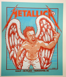 METALLICA - VANCOUVER - 2017 - JERMAINR ROGERS - TOUR POSTER - BC PLACE