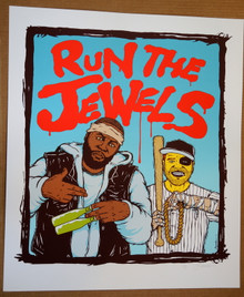 RUN THE JEWELS - ART PRINT - WHITE - JERMAINE ROGERS - A/P POSTER - El-P - KILLER MIKE