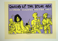 QUEENS OF THE STONE AGE - TURBONEGRO - POSTER - JERMAINE ROGERS - 2003 - MRYTLE BEACH