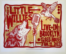 THE LITTLE WILLIES - NORAH JONES - BROOKLYN - TOUR POSTER - JERMAINE ROGERS -