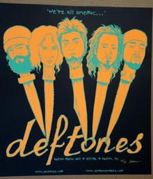 THE DEFTONES - BLACK #43/50 - AUSTIN - TEXAS - 2006 - JERMAINE ROGERS - TOUR POSTER