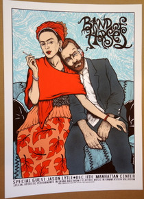 BAND OF HORSES - ARTIST PROOF - NEW YORK  - JASON LYTLE -  2012 - JERMAINE ROGERS -TOUR POSTER