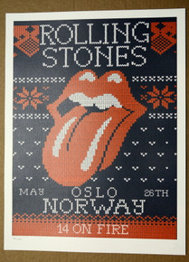 ROLLING STONES - 14 ON FIRE - OSLO - NORWAY - ORIGINAL POSTER - KEITH RICHARDS