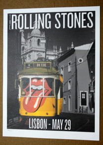 ROLLING STONES - 14 ON FIRE - ROCK IN RIO - LISBON - SPAIN - #442/500 - POSTER