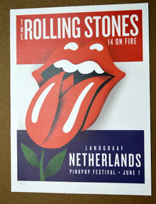 ROLLING STONES - 14 ON FIRE - PINK POP FESTINAL - NETHERLANDS - #396/500 -  TOUR POSTER
