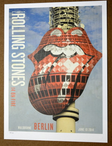 ROLLING STONES - 14 ON FIRE - WALDBUHNE - BERLIN -  TOUR POSTER - KEITH RICHARDS