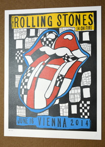 ROLLING STONES - 14 ON FIRE - ERNST HAPPEL STADIUM - VIENNA - AUSTRIA  - TOUR POSTER