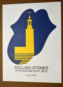 THE ROLLING STONES - 14 ON FIRE - TELE2 ARENA - STOCKHOLM - #396/500 -  POSTER