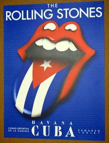 THE ROLLING STONES - HAVANA - CUBA -  2016  - TOUR POSTER - MICK JAGGER