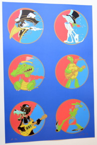 DEAD AND COMPANY - RICHARD BIFFLE - STEPPIN' OUT UNCUT HANDBILL SET - BLUE ON FOIL - GRATEFUL DEAD