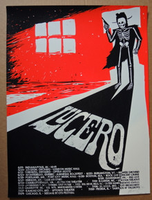 LUCERO - 2017 TOUR POSTER - VARIOUS VENUES - SILK SCREEN - MOON LIGHT SPEED